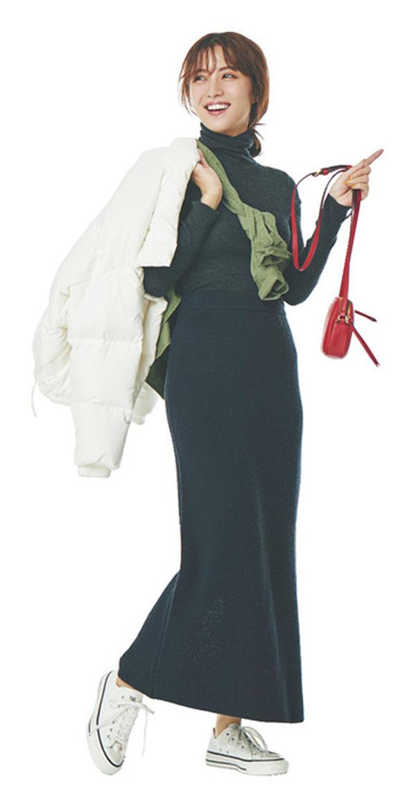 荷物はなるべくコンパクトにしたい!(でもリバーシブル服は持ってない…)一泊二日の温泉旅行 『シャツorワンピを活用して、持っていく服を1枚に!重ね着したり、別のアイテムとして使ったり…。リバーシブルでなくても、アイディア次第で印象をガラリと変えられるシャツorワンピがあれば、冬の旅行も少量の荷物で行けちゃう!』