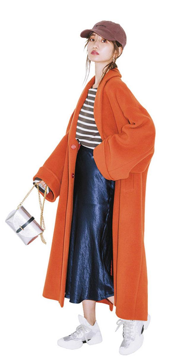 テイストを意識すればカラーコートはこんなに着回せる!『かわいいけど、結局いつも同じ印象になっちゃいそう…と敬遠されがちなカラーコートは、テイストを意識するのがカギ。いつものコーデもパッと華やかに、おしゃれを刷新!』