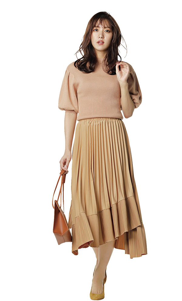 華やかで品のある大人フェミニンスタイル 通勤ノーブル恋style 洋服を選ぶ基準は、上品さとオフィスで浮かない華やぎ。そして自分がより素敵に映るスタイルアップ服はマスト♡今シーズンもそのポイントは変わらずに、キレイ色や新鮮ディテールで春仕様にアップデート!『恋style2もはや定番!プリーツスカートは技アリな1枚を スカート派・恋の大好きアイテムといえばプリーツ! この春は異素材使いや切り替えなど進化形デザインがリリース。オフィスにふさわしいきちんとした洒落感が手に入る♪』