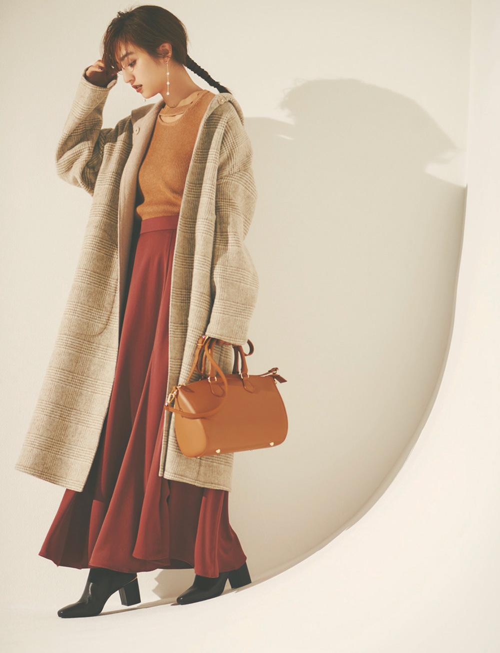 【今日のコーデ】柔らかいウォームカラーで作る♡ビッグコートの大人かわいい着こなし