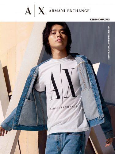 山﨑賢人がアルマーニ エクスチェンジ広告キャンペーンに2度目の登場