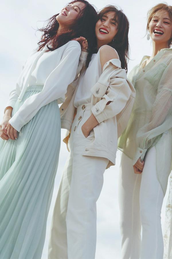 渋谷シンプル茜 トラッド&ベーシックな服をベースに、小物でキレのよさをプラスするのが茜スタイル。春はやわらかな色味やツヤ感でエモさを意識!