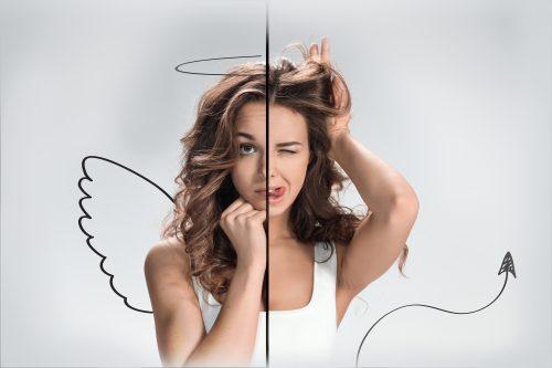 天使と悪魔な女性