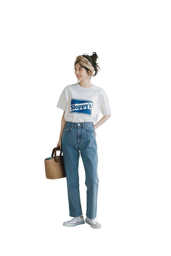 Tシャツ夏コーデ