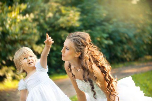子どもと花嫁