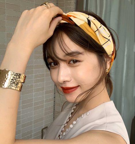 ■海賊風に見えるスカーフのヘアアレンジ