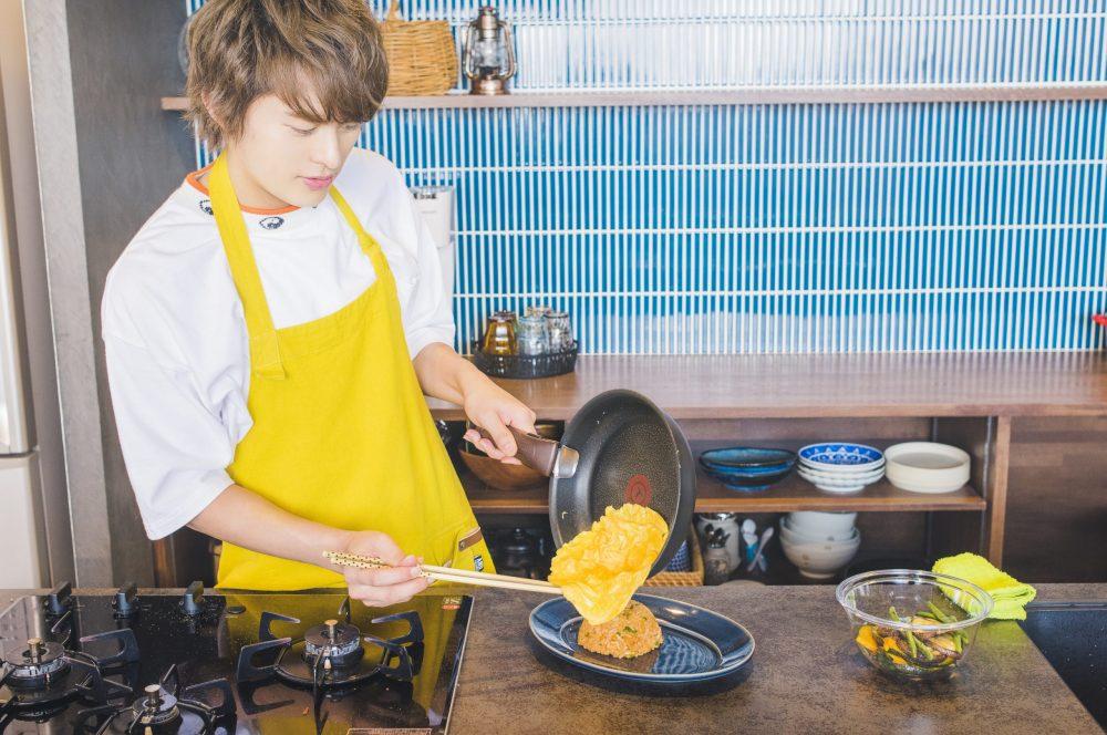BOYS AND MEN ボイメン 小林豊 ゆーちゃむ ゆたクッキング レシピ CanCam  オムライス 卵をのせる