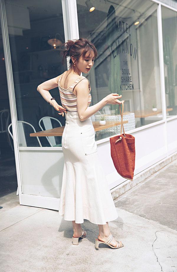 ボリュームヒップ×マーメイドスカート『大きいお尻って最高にキュートでセクシー♡マーメイドスカートでそのまあるいシルエットを引き立てて自信を高めたら、ハッピー感も自然とUP♪』