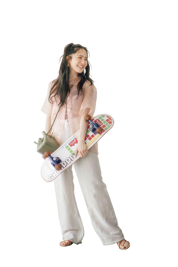 かとし的IF…♥なデート服『透けシャツでスケボーをしに行きたい♥』