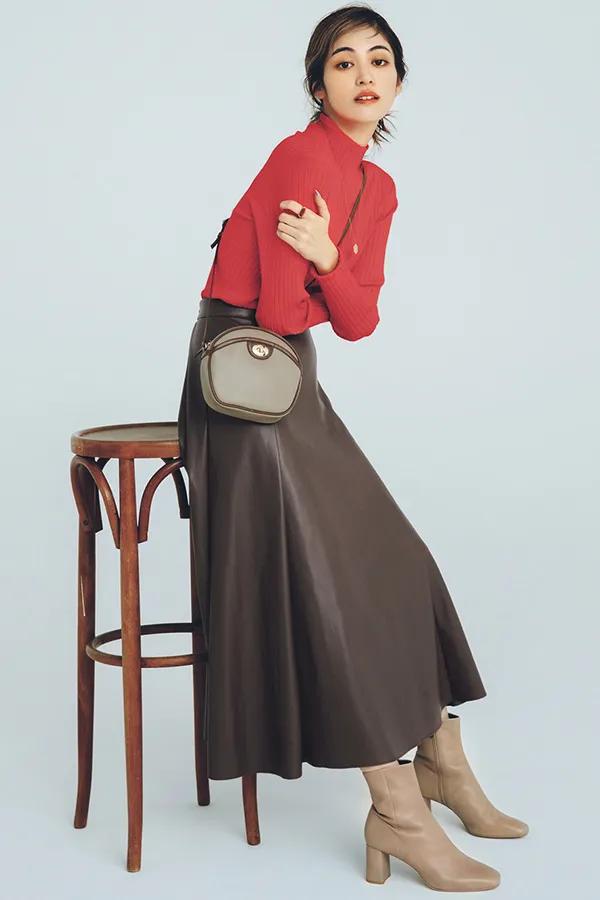 レザー スカート コーデ 冬のスカートコーデ29選|レザーやニット素材でトレンド感を♡おすすめ...