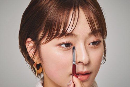■韓国シャドウでつくる切れ長アイ♡
