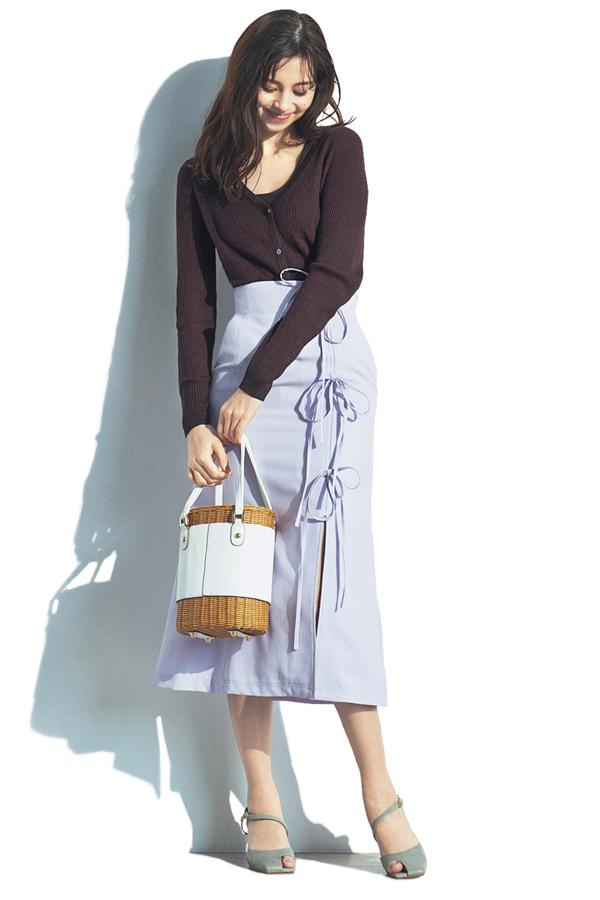 Iラインでスタイルアップ!ほっそりボックススカート『Lilac』