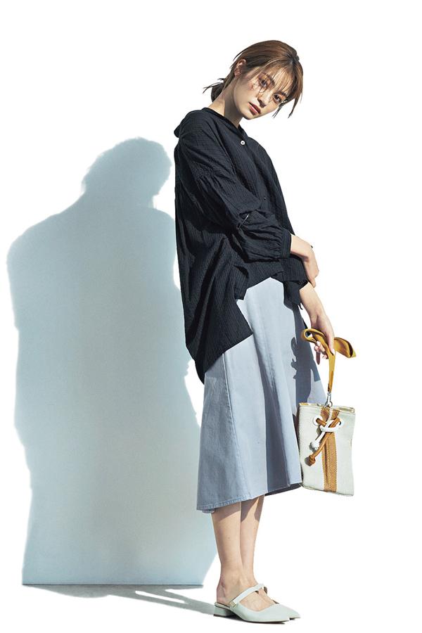 甘くないフレアが断然新しい♥ハリ感フレアスカート『Lavender』