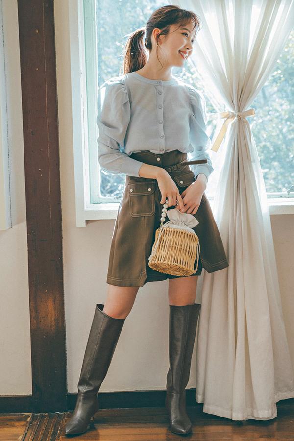 Parisガーリーなかとしのミニ×ブーツはこう着る!