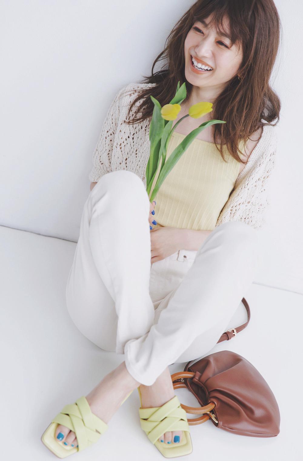 cream beige × sunlight yellow