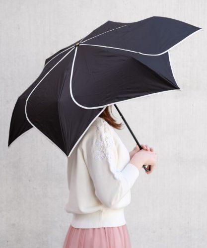 モノトーンフラワー折り畳み傘