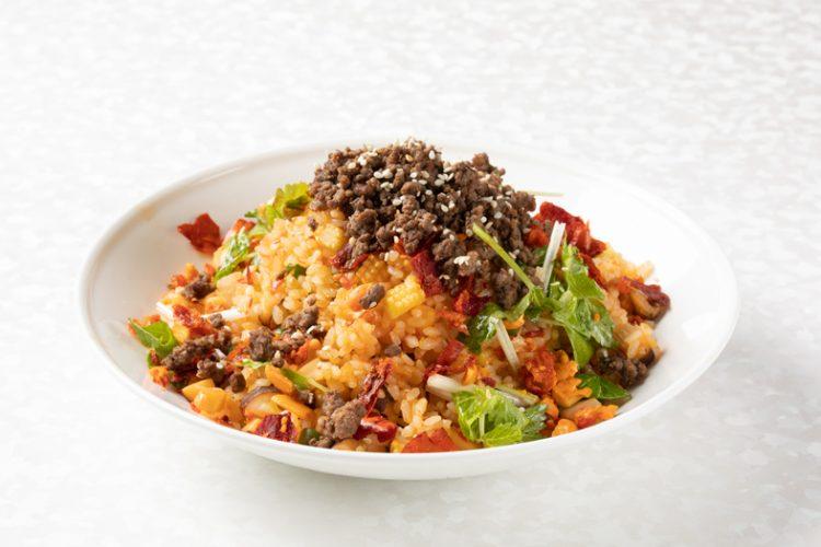 牛肉の四川式海鮮辣味炒飯