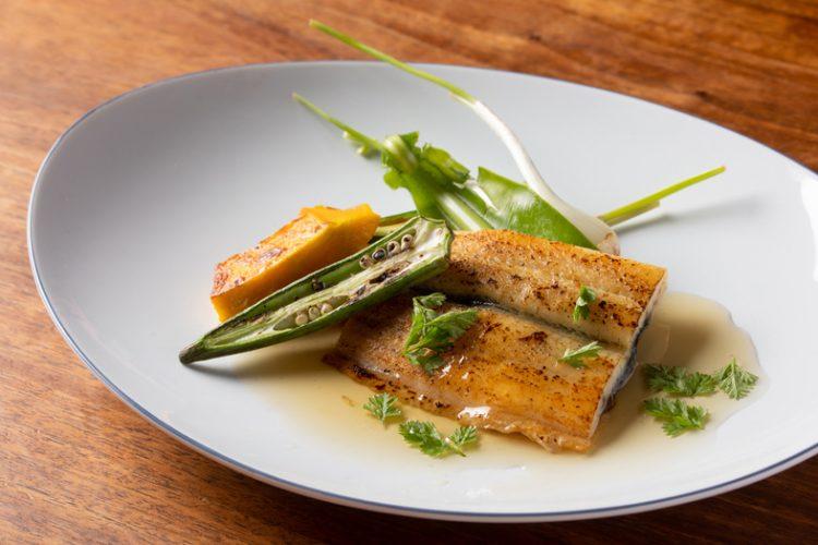 国産鰻の蒸し焼き 夏野菜添え 山椒ソース